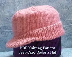 jeep hat jeep cap radar hat knitting pattern