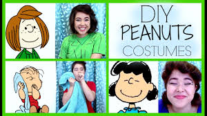 diy peanuts charlie brown costumes lucy linus peppermint patty