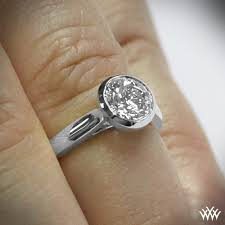 bezel set engagement rings the cameron solitaire diamond engagement ring 585
