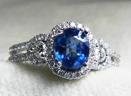 natural sapphire rings images Sapphire engagement ring diamond halo ring 0 93 carat ceylon blue jpg