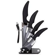 amazon com hullr 6 piece black ceramic blade kitchen knife set