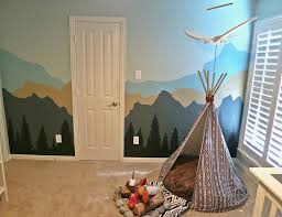 Mountain Mural Wall Art Wallpaper Baby Elsborg S Woodland Adventures Nursery Project Nursery