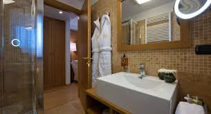 bathroom luxury bathroom style with glass shower beside bathtub
