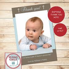 Invitation Card Christening Christening Thank You Card Printable Custom Card Baptism First