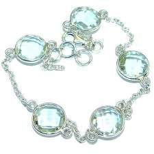 jewelry silver handmade bracelet images Green amethyst 925 sterling silver handmade bracelet 5 00g jpg&a