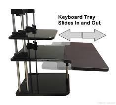 2017 sit stand desk riser three level height adjustable