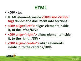 html div tag html popo ppt