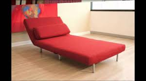 convertible sofas and chairs baxton studios romano convertible sofa chair bed red youtube