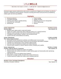 Sample Systems Administrator Resume by Resume Samples For System Administrator Job Position Vinodomia