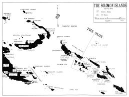 Solomon Islands Map Hyperwar Usmc Monograph Marines In The Central Solomons