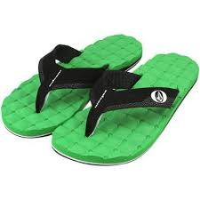 Volcom Recliner Sandals Volcom Youth Recliner Electric Green Sandals X0811520elg U2013 Surf World