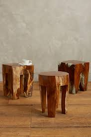 Pine Side Table Resin Coated Pine Side Table Anthropologie