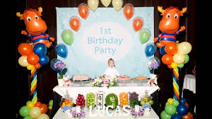 Decoration Ideas For Birthday Party At Home Stunning 1st Birthday Party Decoration For Boys Youtube