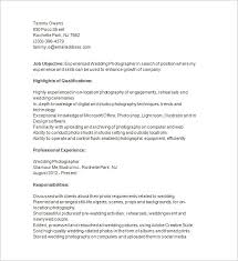 Job Objective In Resume by Photographer Resume Template U2013 17 Free Samples Examples Format