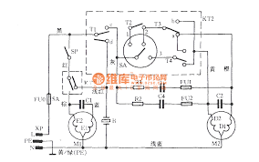 rongshida xpb50 l88s tube washing machine circuit basic circuit