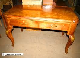 Schreibtisch Nussbaum Antiker Schreibtisch Bureau Plat Nussbaum Um 1900 Mit Geschweiften