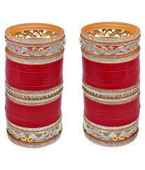 punjabi wedding chura lucky jewellery designer ad american diamond bridal
