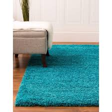 5 X 6 Area Rug Shag Rug Shag Rug Turquoise High Quality Carpet Polypropylene