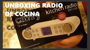 Kitchen Under Cabinet Radio Unboxing Radio De Cocina De Amazon Camry Aeg Youtube