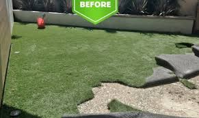 Astro Turf Backyard Modern Backyard Remodel Orange County Landscapes