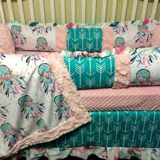 Custom Girls Bedding by Brimlee Candy Purple And True Turquoise Custom Baby Bedding Set