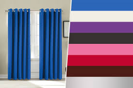 Bright Blue Curtains Royal Blue Blackout Curtains Uk Www Redglobalmx Org