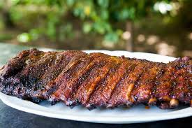 memphis style dry rubbed pork ribs barbecued slowly to perfection