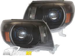 Dodge Challenger Xenon Headlights - 2005 2011 toyota tacoma custom retrofit hid bi xenon headlights