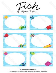 free printable fish name tags the template can also be used for