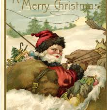 fantastic vintage santa with sleigh image the graphics fairy