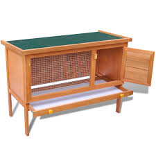 6 Rabbit Hutch Outdoor Rabbit Hutch Small Animal House Pet Cage 1 Layer Wood