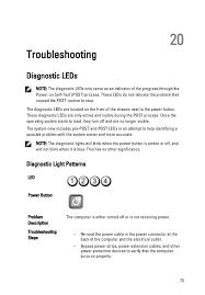 Dell Diagnostic Lights Manual Service Optiplex 990