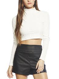 crop top sweater arden b sleeve cable knit crop top where to buy how to wear