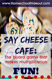 fun ways to learn your multiplication tables say cheese cafe board game review homeschool hideout
