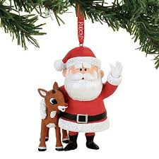 department 56 rudolph reindeer and santa claus tree