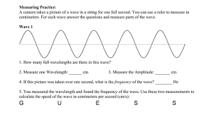 wave calculations worksheet answers the best and most