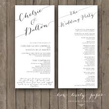 sided wedding programs wedding card design classic style awesome design wedding program