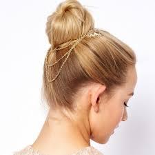 hair cuff jewelry golden tone leaf hair cuff chain comb headband