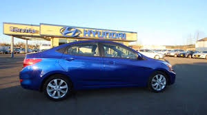 hyundai accent reviews 2014 2014 hyundai accent gls blue eu592037 skagit county mt