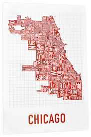 Map Of Chicago Illinois by The Original Chicago Type Neighborhoods Map Locally Made In Chicago