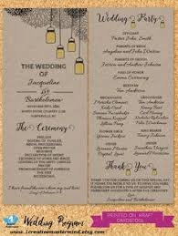 Rustic Wedding Program Template Diy Printable Program Wedding Template Instant Download Wedding