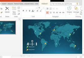 word map infographic templates for powerpoint