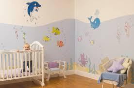 Wooden Nursery Decor by Funny Aquarium Wall Decal Decoration Ideas In Simple Baby Biy
