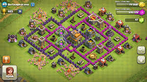 Coc Maps Clash Of Clans Tips Town Hall Level 7 Layouts