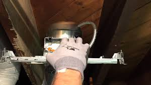 change ceiling light to recessed light how to install halo new construction recessed lighting youtube