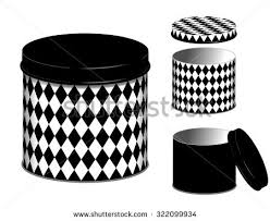 black and white kitchen canisters canisters three kitchen storage cans lids stock vector 319537925