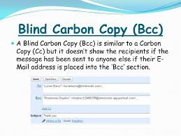 How Does Blind Carbon Copy Work By Toby Reed Ppt Online Download