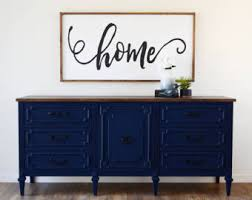 Blue Console Table Blue Console Table Etsy