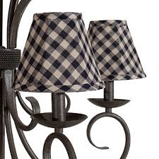 mama u0027s kitchen two tone plaid chandelier shade