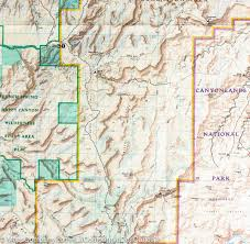 Blm Maps Utah by Trail Map Of Canyonlands National Park Island In The Sky